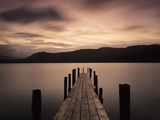 Jetty at Brandelhow Bay, Derwent Water, Lake District National Park, Cumbria, England Photographic Print by Green Light Collection