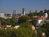 Elevated View of City, Vilnius, Lithuania Photographic Print by Green Light Collection