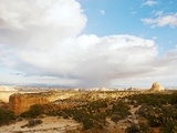 Clouds Over An Arid Landscape, Capitol Reef National Park, Utah, USA Photographic Print by Green Light Collection