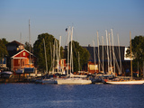 Boats at a Harbor, Parnu Yacht Club, Parnu, Estonia Photographic Print by Green Light Collection