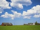 Farmhouse in a Field, Loksa, Lahemaa National Park, Tallinn, Estonia Photographic Print by Green Light Collection
