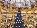 Christmas Decorations in Galeries Lafayette Photographic Print by Green Light Collection