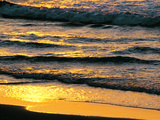 Sunset Light on Waves at Beach Photographic Print by Green Light Collection