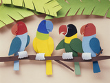 Illustration Birds Stampa fotografica di Green Light Collection