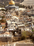 High Angle View of Buildings in a City, Jerusalem, Israel Photographic Print by Green Light Collection