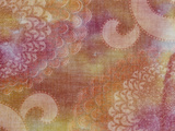 Blurred View of Pink And White Oriental Chrysanthemum Pattered Fabric Photographic Print by Green Light Collection