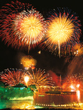 Firework Display at Night Photographic Print by Green Light Collection