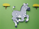 Illustration Zebra Photographic Print by Green Light Collection