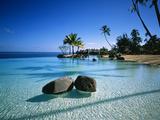 Resort Tahiti French Polynesia 写真プリント : グリーン・ライト・コレクション
