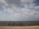 Clouds Over the Sea, Dzintari Beach, Dzintari, Jurmala, Latvia Photographic Print by Green Light Collection