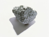 Grey Textured Stone on White Background Photographic Print by Green Light Collection
