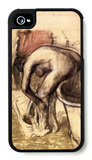 Female on the Tub Edge, Her Legs Drying 1 iPhone 4/4S Case by Edgar Degas