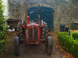 Vintage Tractor in the Walled Garden in Strokestown House Demesne Photographic Print by Green Light Collection