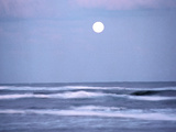 Full Moon Over Sea, Twilight Photographic Print by Green Light Collection