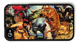 Lion and Tiger Hunting iPhone 4/4S Case by Peter Paul Rubens