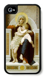 Virgin with Jesus 1875 iPhone 4/4S Case by William Adolphe Bouguereau