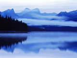 Reflection of Clouds in a Lake, Maligne Lake, Jasper National Park, Alberta, Canada Photographic Print by Green Light Collection