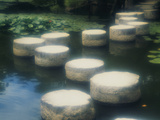 Stepping Stones Heian Jingu Kyoto Japan Photographic Print by Green Light Collection