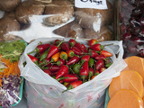 Peppers for Sale in San Telmo Local Market, Buenos Aires, Argentina Photographic Print by Green Light Collection