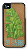 Block Print Palm VIII iPhone 4/4S Case by Chariklia Zarris
