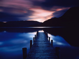 Pier Over a Lake, Ullswater, English Lake District, Cumbria, England Photographic Print by Green Light Collection