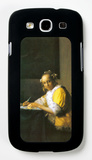 Woman in Yellow Galaxy S III Case by Jan Vermeer