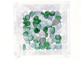 Pebbles in a Horizontal Clear Glass Box Photographic Print by Green Light Collection