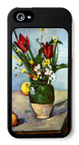 Still Life with Blue Vase iPhone 5 Case by Paul Cézanne