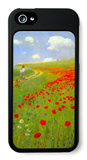 Mohnblumenfeld iPhone 5 Case von Paul von Szinyei-Merse