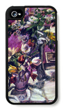 Lilac and Tulips iPhone 4/4S Case by Lovis Corinth