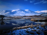 Winter Scene Strathmashie Highlands Scotland Photographic Print by Green Light Collection