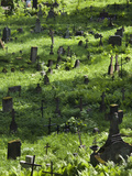 Gravestones at Rasos Cemetery, Vilnius, Lithuania Photographic Print by Green Light Collection