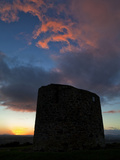 Sunset Over the Remains of Windmill Used in the 1798 Rebellion Photographic Print by Green Light Collection