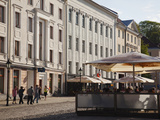 Tourists at a Sidewalk Cafe, Tartu, Estonia Photographic Print by Green Light Collection