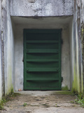 Bunker Entrance Blast-proof Door, the Pension, Ligatne, Gauja National Park, Latvia Photographic Print by Green Light Collection