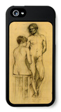 Naked Couple with Woman Sitting iPhone 5 Case by Henri de Toulouse-Lautrec
