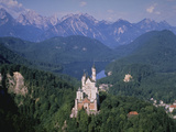 Building on Hill Neuschwanstein Germany Photographic Print by Green Light Collection