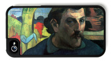 Self Portrait with Yellow Christ iPhone 4/4S Case by Paul Gauguin