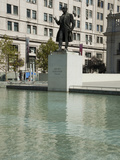Statue in Front of Palacio De La Moneda Photographic Print by Green Light Collection