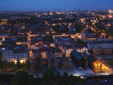 Elevated View of Old Town at Dusk, Klaipeda, Lithuania Photographic Print by Green Light Collection