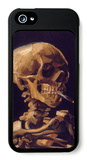 Skull with a Burning Cigarette iPhone 5 Case by Vincent van Gogh