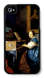 Dame on Spinet iPhone 4/4S Case by Jan Vermeer