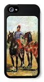 Groom with Two Horses iPhone 5 Case by Henri de Toulouse-Lautrec