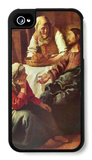 Christ with Mary and Martha iPhone 4/4S Case by Jan Vermeer