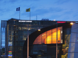 Evening View of Museum of Contemporary Art Kiasma And Sanomat Newspaper Tower Photographic Print by Green Light Collection