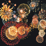 Exploding of Group of Fireworks Photographic Print by Green Light Collection