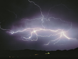 Lightning Bolt in Sky Photographic Print by Green Light Collection