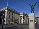 The General Post Office (GPO), Jim Larkin's Statue And Spire of Dublin Photographic Print by Green Light Collection
