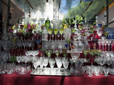 Glassware for Sale at the Sunday Market, Plaza Dorrego, San Telmo, Buenos Aires, Argentina Photographic Print by Green Light Collection