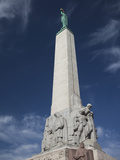 Low Angle View of a Monument, Freedom Monument, Riga, Latvia Photographic Print by Green Light Collection